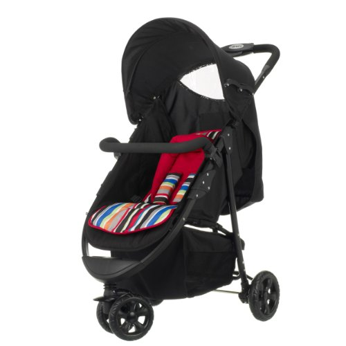 Obaby Tour 3 Wheeler (Black with Red Stripe)