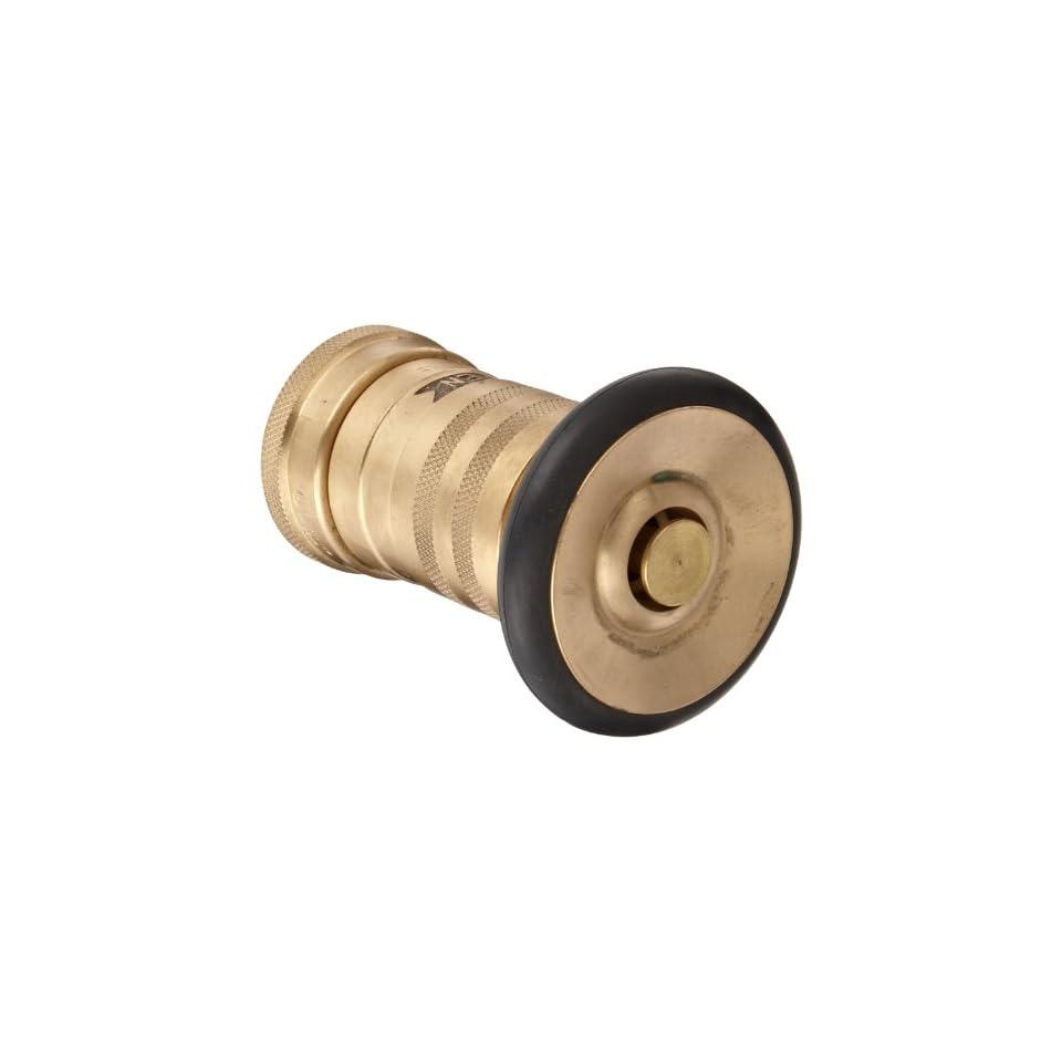 Moon 520 1011 Brass Fire Hose Nozzle, Heavy Duty Industrial Fog, 36 gpm, 1 NPSH
