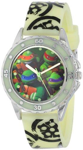 Nickelodeon Teenage Mutant Ninja Turtles Kids' TMN9028 Analog Display Glow-in-the-Dark Watch - 1