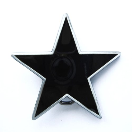 Hogar Mens Zinic Alloy Belt Buckle Black Pentagon Star Buckles Color Black