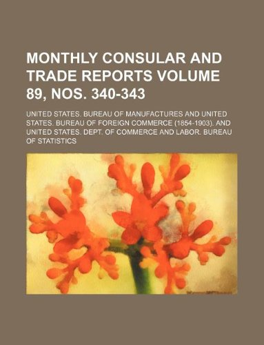 Monthly consular and trade reports Volume 89, nos. 340-343