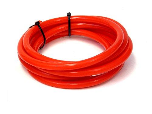 HPS HTSVH6-REDx5 Red 5' Length High Temperature Silicone Vacuum Tubing Hose (60 psi Maxium Pressure, 1/4