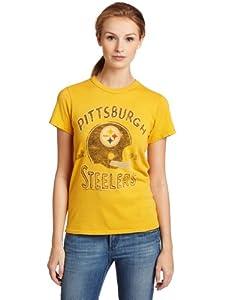 NFL Women's Pittsburgh Steelers Heather Vintage Short Sleeve Crew at SteelerMania