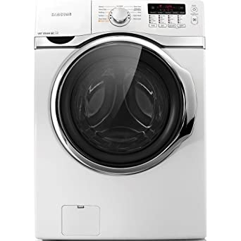 Samsung WF393BTPA 3.9 Cu. Ft. Front Load Washer with Steam Wash, Neat White