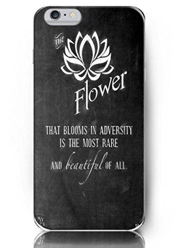 Ouo Design Ouo Design The Flower That Blooms In Adversity Is The Most Rare And Beautiful Of All Fit For 4.7 Inch Iphone 6 - Hard Snap On Plastic Case - Inspirational And Motivational Life Quotes Fit For 5.5 Inch Iphone 6 Plus - Hard Snap On Plastic Case -