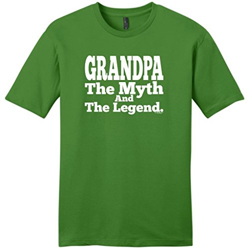 Grandpa The Myth And The Legend Young Mens T-Shirt Large Kiwi Green front-300008