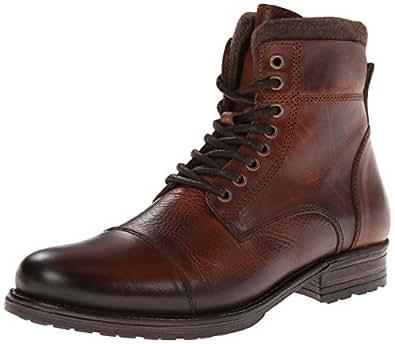 .com: Aldo Men's Struzik Combat Boot, Cognac, 39 EU/7 D US: Shoes