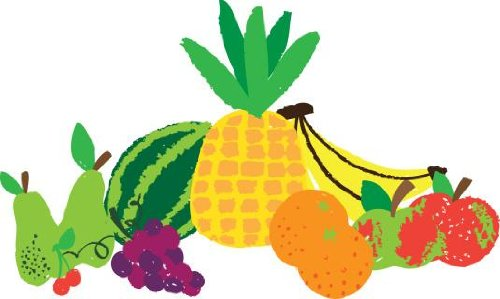 A Variety Of Fruit Wall Decal - 42 Inches W X 25 Inches H - Peel And Stick Removable Graphic front-664132