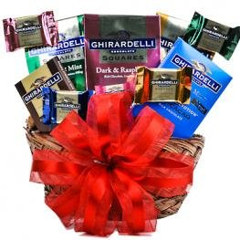 Grand Ghirardelli Chocolate Array Gift Basket