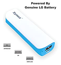 XYNUS RM-2200 mAh Power Bank With Genuine LG Battery (White-Blue)