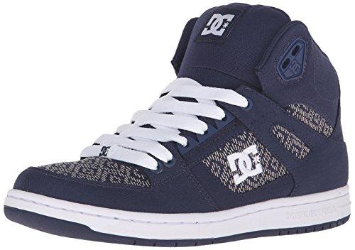 DC Rebound High TX SE Skate Shoe, Navy, 7.5 M US