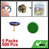 Plastic Coated Round Office Push Pins Thumb Tacks 200 Pcs