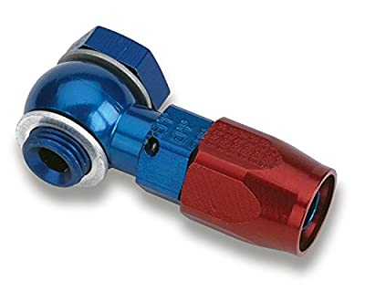 Earl's 807692 Blue and Red Anodized Aluminum -6AN Single Banjo Hose End