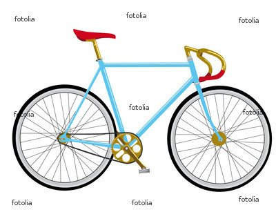 """Wallmonkeys Peel and Stick Wall Decals - Singlespeed Bike - 60""""W x 48""""H Removable Graphic"""