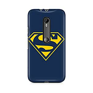 Motivatebox - Moto X Force Back Cover - Blue Superman Icon Polycarbonate 3D Hard case protective back cover. Premium Quality designer Printed 3D Matte finish hard case back cover.
