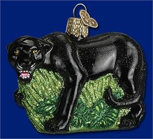 Black Panther Old World Glass ornament
