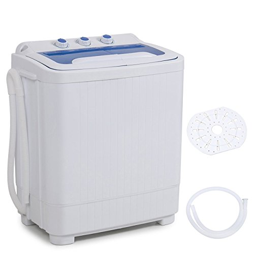 Della Mini Washing Machine Portable Compact Washer and Spin Dry Cycle with BUILT-IN PUMP, White (Washing Machines Portable compare prices)