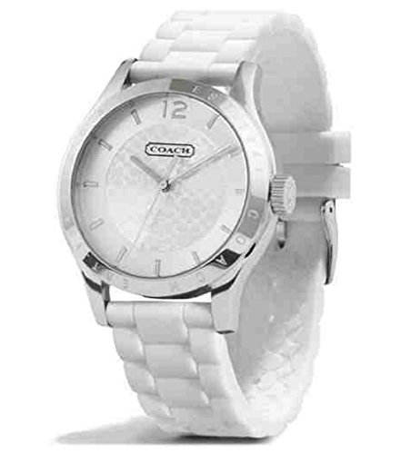 Coach Maddy Watch 14501803 Stainless Steel Silicone Rubber Strap White