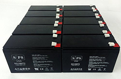 Sps Brand Ge Digital Energy It Series Ups1500Itsit Ups1500Itsir 12V 9Ah Replacement Battery (10 Pack)