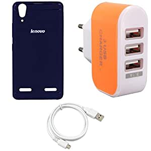 NIROSHA Cover USB Cable for Lenovo A6000 - Combo