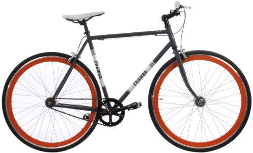 Framed Lifted Flat Bar U-Brake Bike Single Speed Grey/Orange 52cm