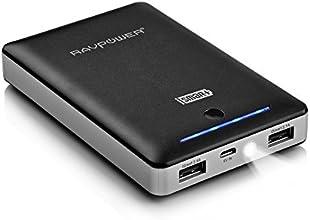 [Chargeur Portable le plus Puissant] RAVPower 16000mAh (Sortie 5V/ 4.5A, Entrée 2A) Batterie Externe de Secours Universelle, Double Ports de Sortie USB avec la Technologie iSmart pour iPhone, iPad, Android, Smartphone Windows et Samsung, Tablette etc. - Noir