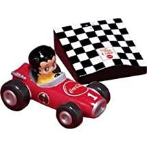 Coca-Cola Betty Boop Racing Car Salt & Pepper Shaker Set Item #11331