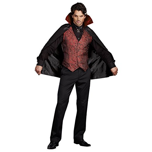 GSG Love At First Bite Adult Vampire Count Dracula Halloween Costume Std/Plus (Love Bite Vampire Costume)