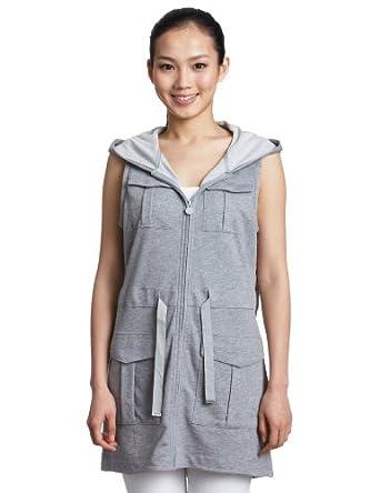 Puma Women's Sleeveless Utility Gilet Hooded Zip-Up Dress