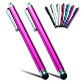 2xFirst2savvv pink Touch screen stylus pen for MICROSOFT Surface RT 10.6 Convertible Tablet - 32 GB with Black Touch Cover