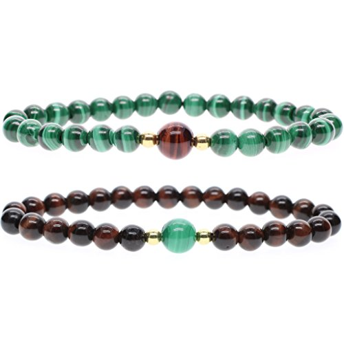 amorwing-6mm-reiki-healing-stones-red-tiger-eye-and-malachite-friendship-bracelets-2-pack