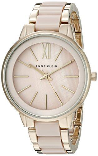 anne-klein-womens-ak-1412bmgb-gold-tone-and-blush-pink-resin-bracelet-watch