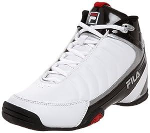 Fila Men's DLS Game 1SB106XX Basketball Shoe,White/Black/Chinese Red,10.5 M US