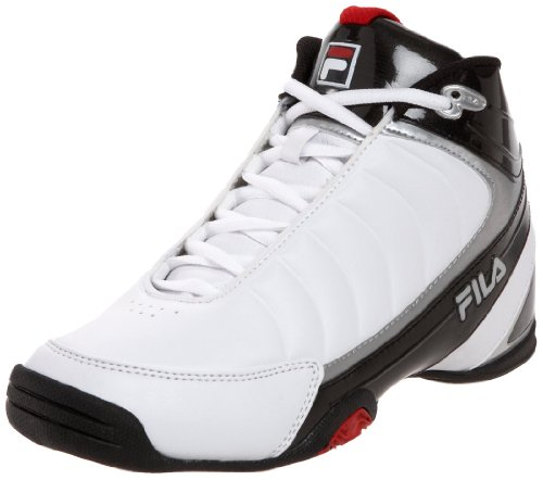 Fila Men's DLS Game 1SB106XX Basketball Shoe,White/Black/Chinese Red,11 M US