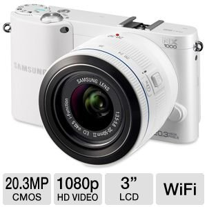 Samsung NX1000 White ~ 20.3MP Digital Camera with 20-50mm Lens