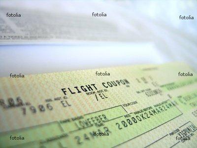 "Wallmonkeys Peel and Stick Wall Graphic - Flight Ticket 3 - 18""W x 14""H"