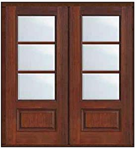 Florida Impact French Double Door 80 Fiberglass 3 4 Lite 3 Lite 6 3 0 Entry Doors