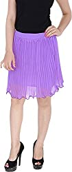 Soundarya Women's Regular Fit Skirt (Purple, 24)