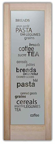 Pantry Door - Sans Soucie Etched Glass Interior Door, Doug Fir, Pantry Goods 30 in. x 80 in. Book/Slab Door 1-3/8 in. (Interior Glass Slab Door compare prices)
