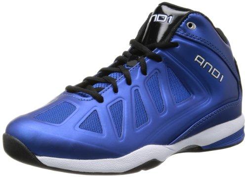 AND 1 Men's Backlash Mid Basketball Shoe,Royal/Black/White,8 M US