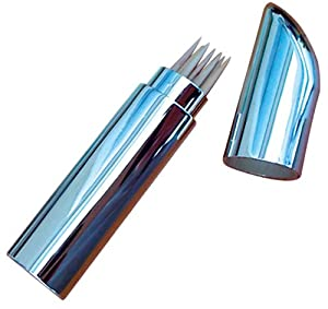 Shiny Chrome Toothpick Holder Kitchen Dining
