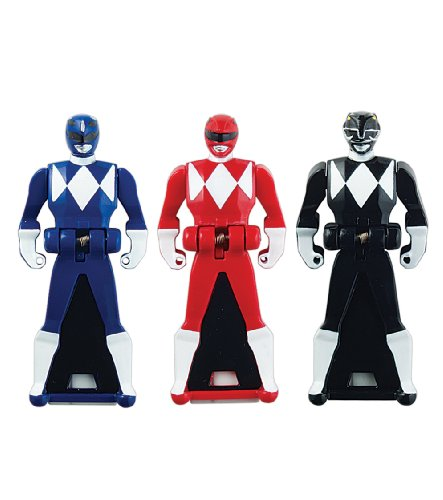 Power Rangers Super Megaforce - Mighty Morphin Legendary Ranger Key Pack A, Red/Blue/Black - 1