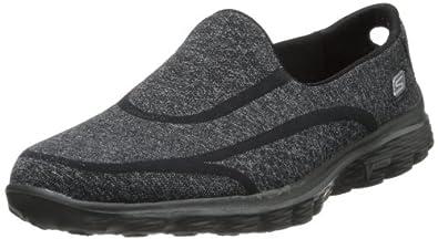 Skechers Women's Go Walk 2 Super Sock Walking Shoe,Black,5 M US