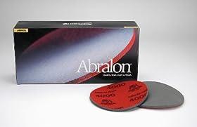"""Mirka Abralon 8A-618-1000 12"""" Foam Backed Velcro Hook & Loop Discs P1000, Qty. 5"""