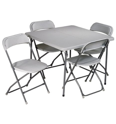 FOLDING CARD TABLE AND CHAIR SET AND CHAIR SET BAR HEIGHT TABLE AND CHAIR