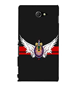 printtech Eagle Back Case Cover for Sony Xperia M2 Dual D2302::Sony Xperia M2