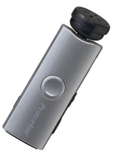 プリンストンテクノロジー Bluetooth対応コードレスハンズフリーイヤフォン (シルバー) PTM-BEM5SV