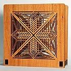 Frank Lloyd Wright DANA HOUSE ENTRY LIGHT Design Laser Cut Wood Napkin Holder