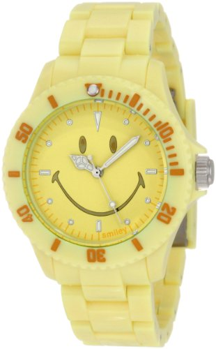 "Smiley ""Happy Time"" Women'S Wgs-Ppyv01 Pretty Pastel Yellow Analogue Watch"