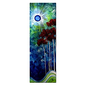 Megan Duncanson 'Tropical Night' Tree Moon Contemporary Wall Sculpture, Abstract Metal Wall Art, Modern Home Décor
